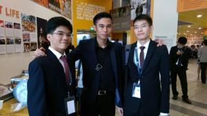 Samuel,  Karlo and Alan