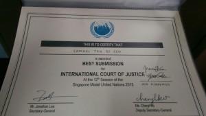 Samuel's certificate